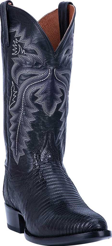 Men's Dan Post Boots Winston Exotic Cowboy Boot DP3050R, Black Exotic Lizard, large, image 1