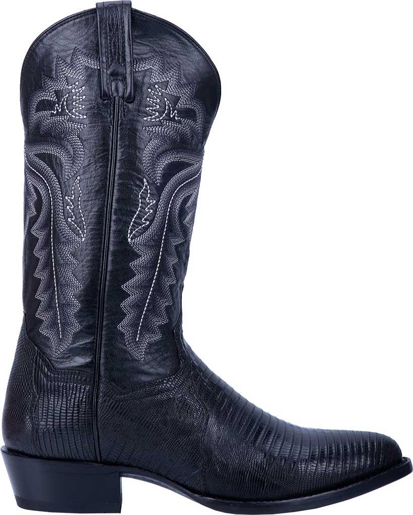Men's Dan Post Boots Winston Exotic Cowboy Boot DP3050R, Black Exotic Lizard, large, image 2