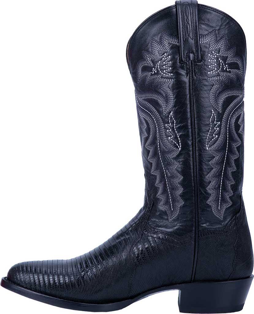 Men's Dan Post Boots Winston Exotic Cowboy Boot DP3050R, Black Exotic Lizard, large, image 3