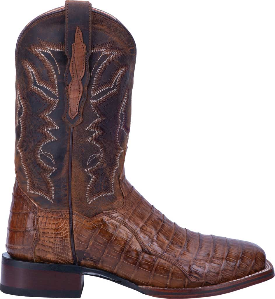 Men's Dan Post Boots Kingsly Cowboy Boot DP4807, Bay Apache/Chocolate Genuine Caiman Skin, large, image 2