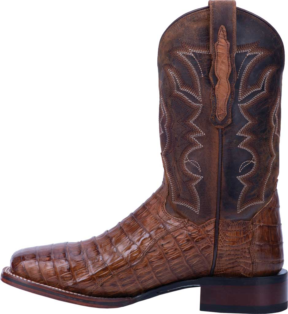 Men's Dan Post Boots Kingsly Cowboy Boot DP4807, Bay Apache/Chocolate Genuine Caiman Skin, large, image 3