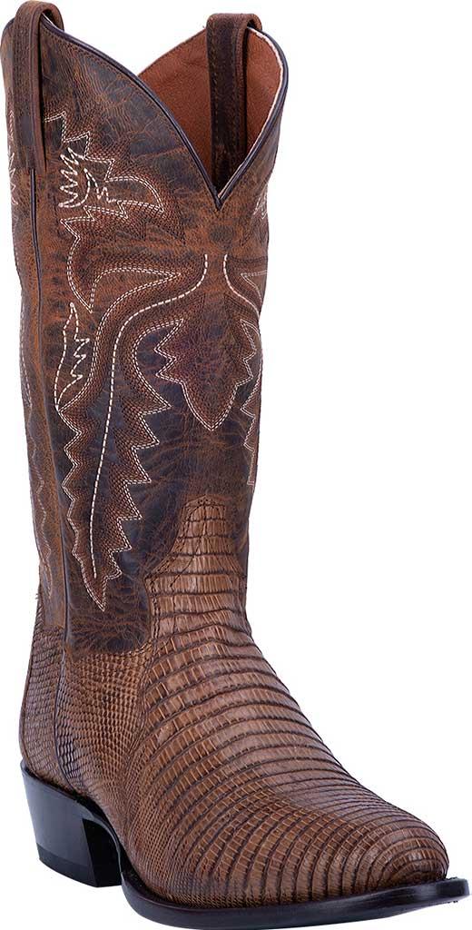 Men's Dan Post Boots Salem Exotic Cowboy Boot DP3054, Bay Apache Exotic Lizard, large, image 1