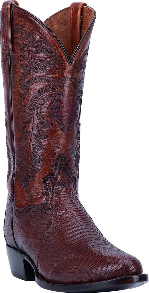 Men's Dan Post Boots Winston Exotic Cowboy Boot DP3051R, Tan Exotic Lizard, large, image 1