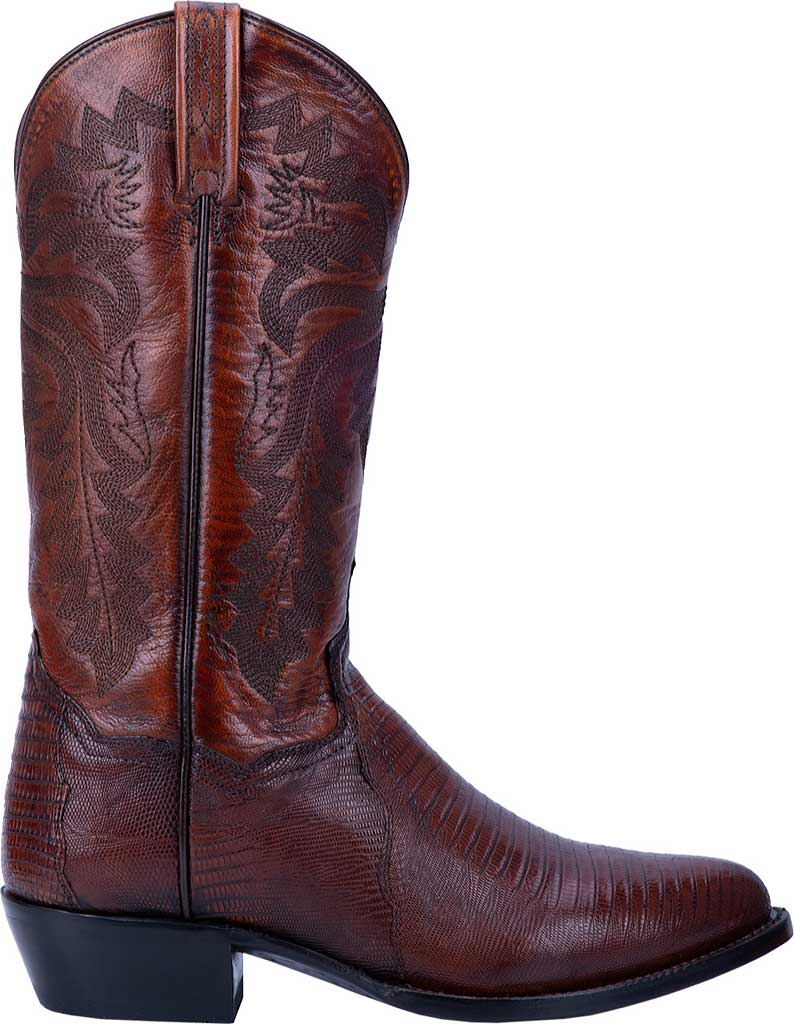 Men's Dan Post Boots Winston Exotic Cowboy Boot DP3051R, Tan Exotic Lizard, large, image 2