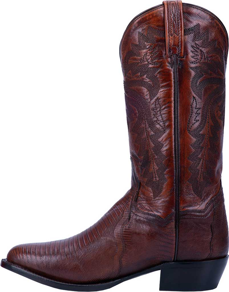 Men's Dan Post Boots Winston Exotic Cowboy Boot DP3051R, Tan Exotic Lizard, large, image 3