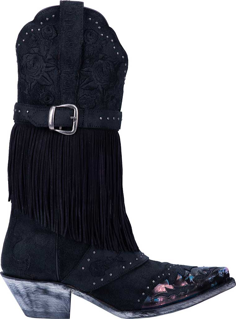 Women's Dan Post Boots Bed Of Roses Cowgirl Boot DP4047, Black Premium Leather, large, image 2