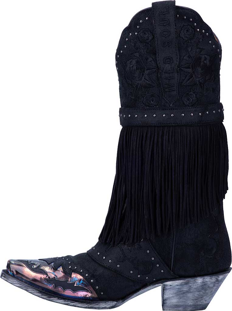 Women's Dan Post Boots Bed Of Roses Cowgirl Boot DP4047, Black Premium Leather, large, image 3