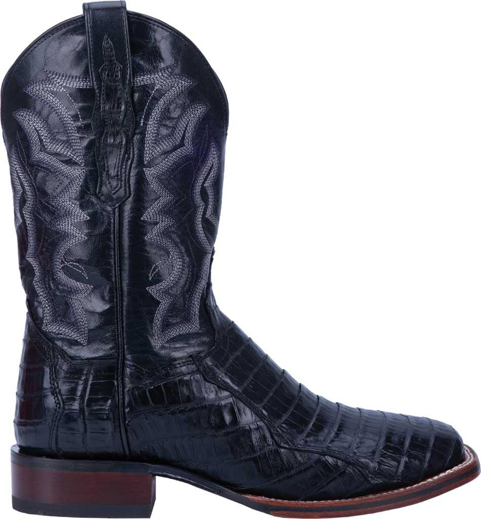 Men's Dan Post Boots Kingsly Cowboy Boot DP4805, Black Genuine Caiman Skin, large, image 2