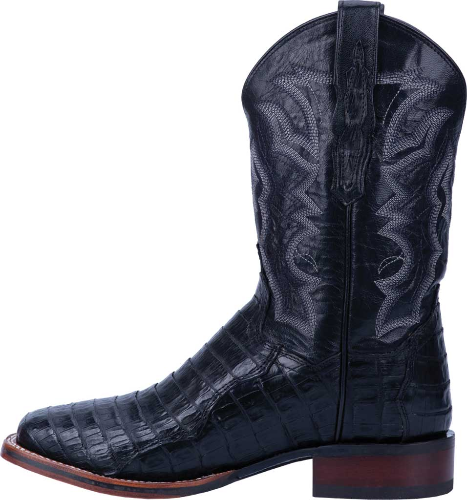 Men's Dan Post Boots Kingsly Cowboy Boot DP4805, Black Genuine Caiman Skin, large, image 3