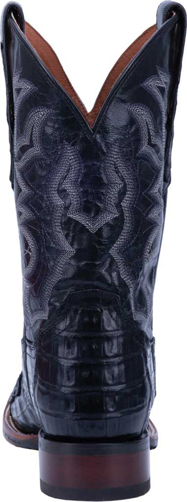 Men's Dan Post Boots Kingsly Cowboy Boot DP4805, Black Genuine Caiman Skin, large, image 4