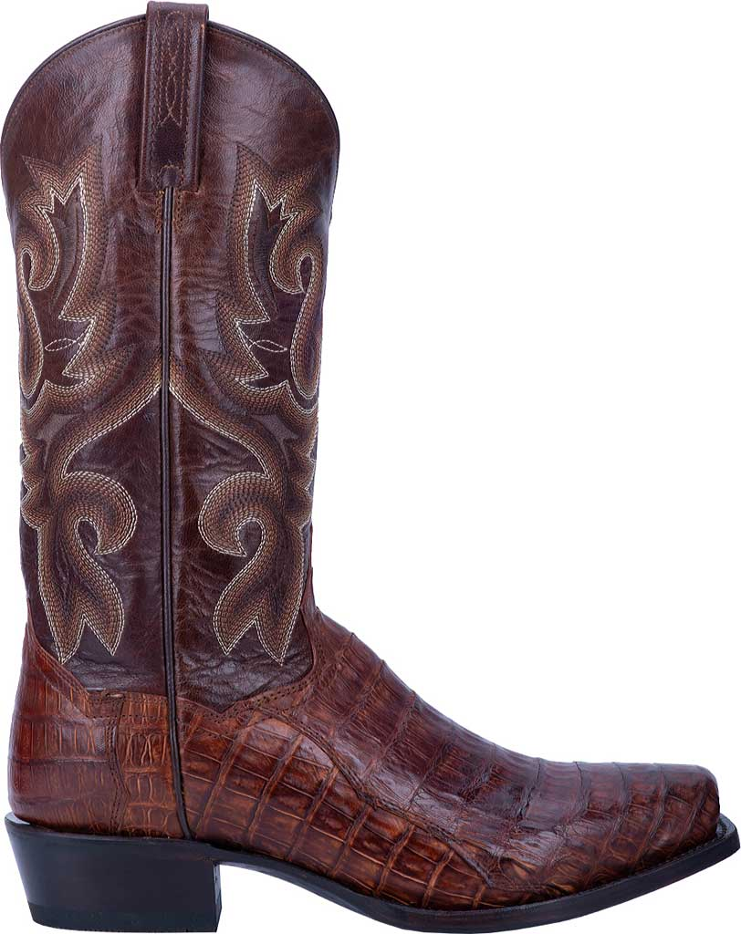 Men's Dan Post Boots Bayou Cowboy Boot DP3074, Brass Genuine Caiman Skin, large, image 2