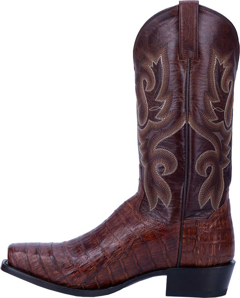 Men's Dan Post Boots Bayou Cowboy Boot DP3074, Brass Genuine Caiman Skin, large, image 3