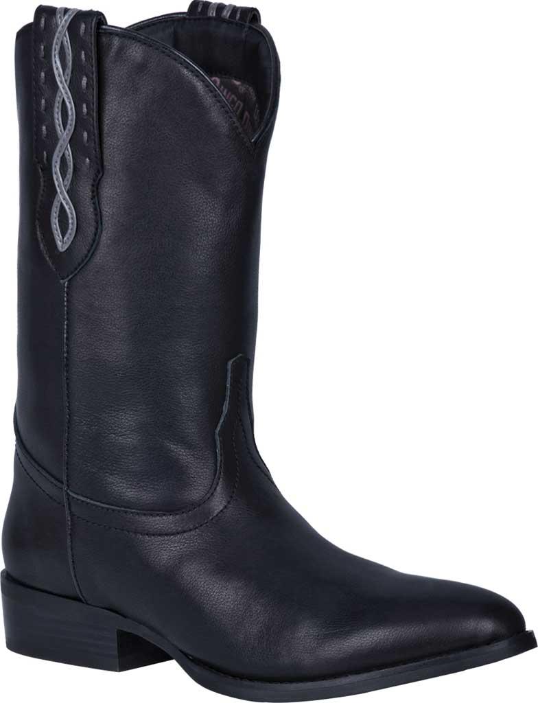 Men's Dingo Poncho Cowboy Boot DI 214, Black Leather, large, image 1
