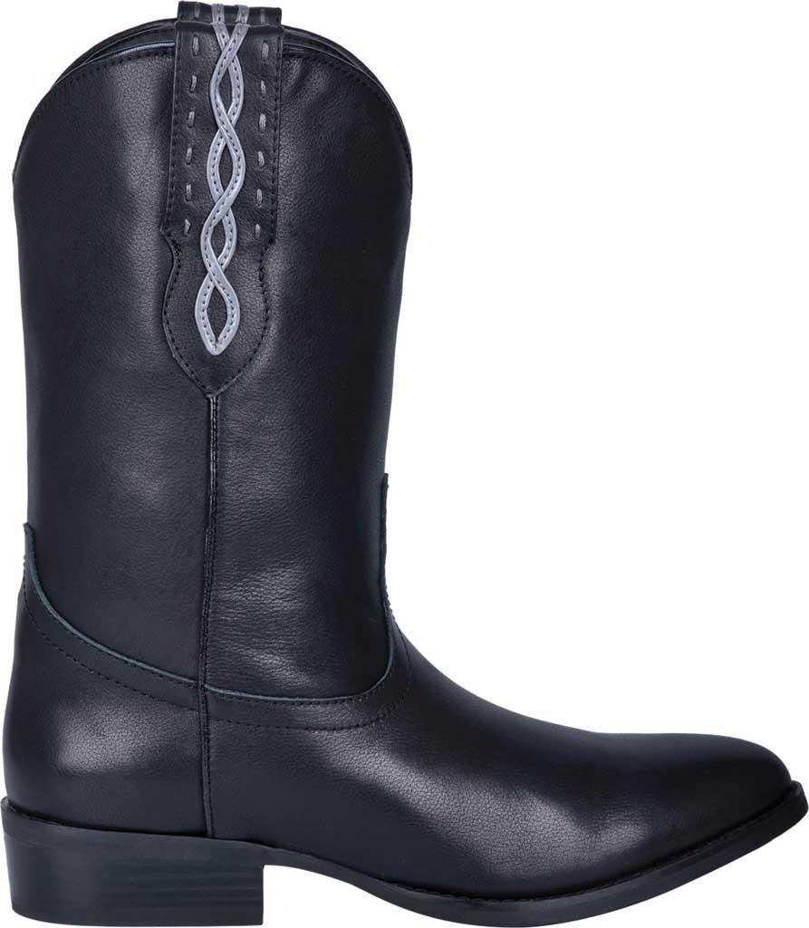 Men's Dingo Poncho Cowboy Boot DI 214, Black Leather, large, image 2