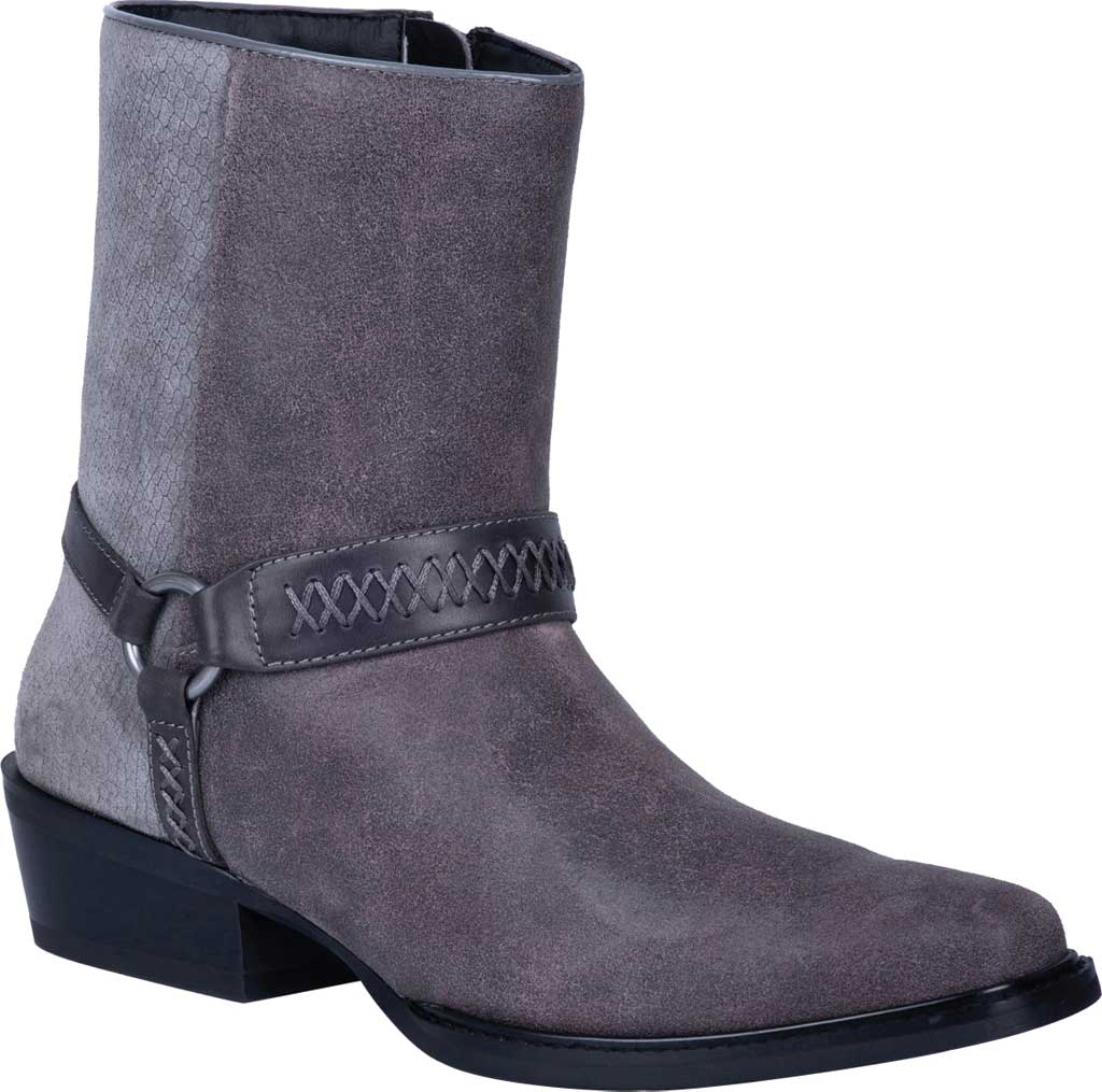 Men's Dingo Butch Harness Boot DI 219, Grey Leather, large, image 1