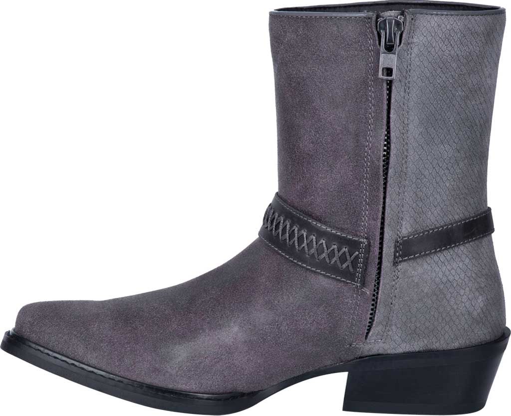 Men's Dingo Butch Harness Boot DI 219, Grey Leather, large, image 3