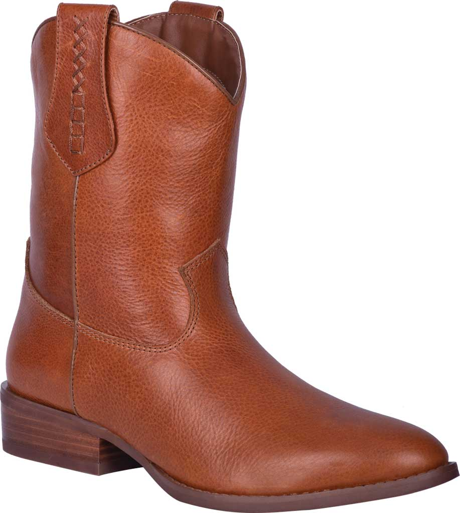 Men's Dingo Lefty Pull On Western Boot DI 212, Camel Leather, large, image 1