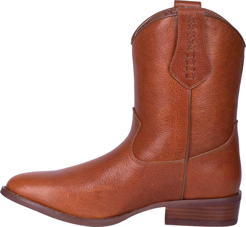 Men's Dingo Lefty Pull On Western Boot DI 212, Camel Leather, large, image 3