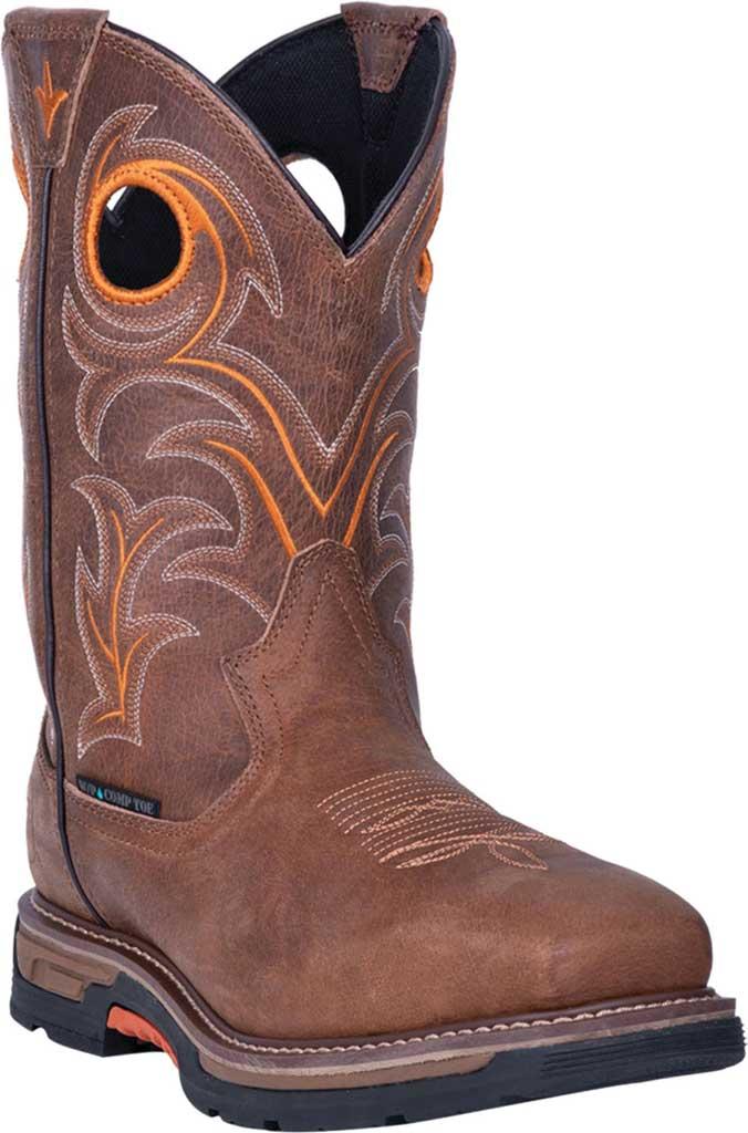 Men's Dan Post Boots Storms Eye Composite Toe Boot DP59414, Brown Waterproof Full Grain Leather, large, image 1