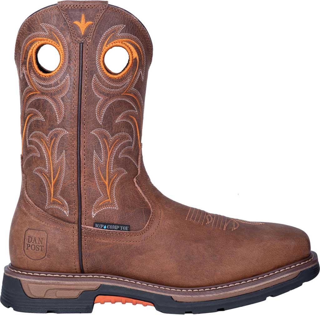 Men's Dan Post Boots Storms Eye Composite Toe Boot DP59414, Brown Waterproof Full Grain Leather, large, image 2