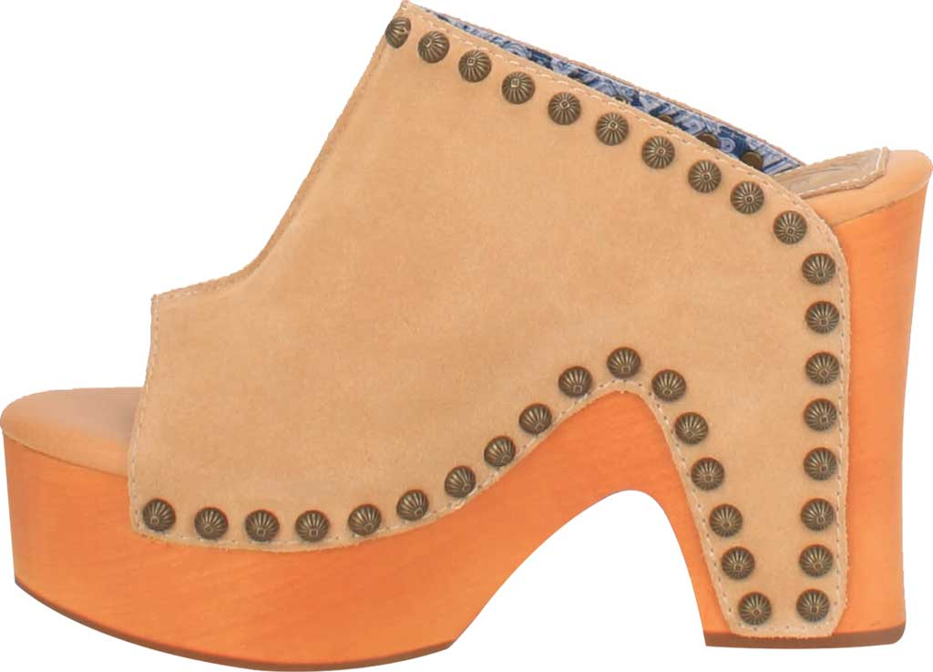 Women's Dingo Peace N' Love DI 153 Heeled Slide, Natural Suede, large, image 3