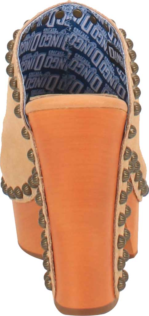 Women's Dingo Peace N' Love DI 153 Heeled Slide, Natural Suede, large, image 4