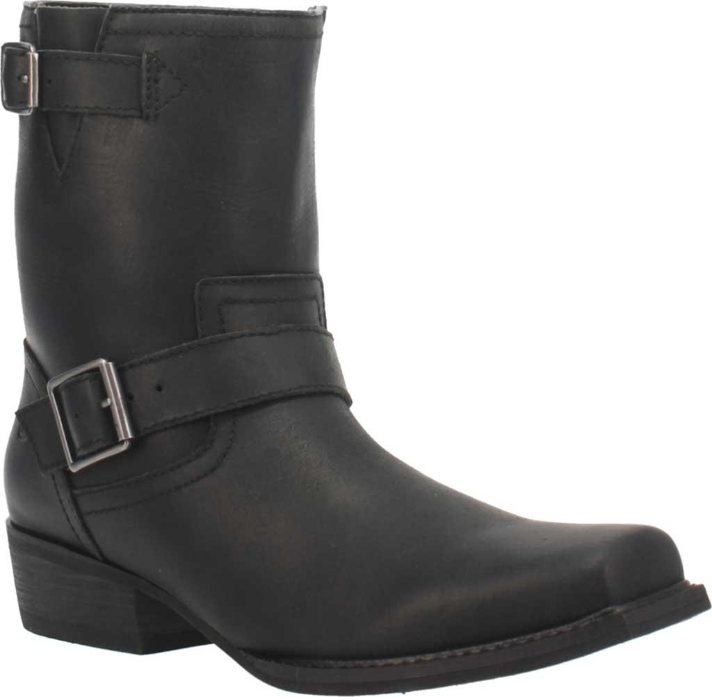 Men's Dingo Hackett DI 293 Biker Boot, Black Leather, large, image 1