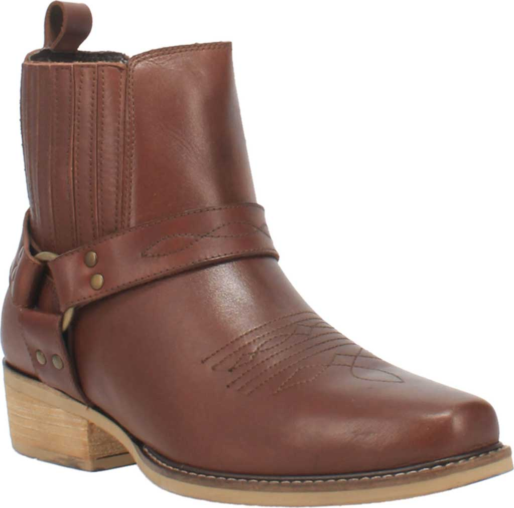 Men's Dingo Black Bart DI 282 Harness Boot, Brown Leather, large, image 1