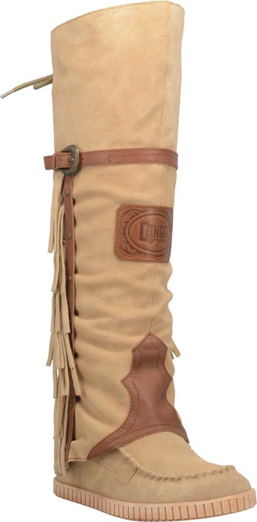 Women's Dingo Caddo DI 229 Tall Moccasin Boot, Natural Leather, large, image 1