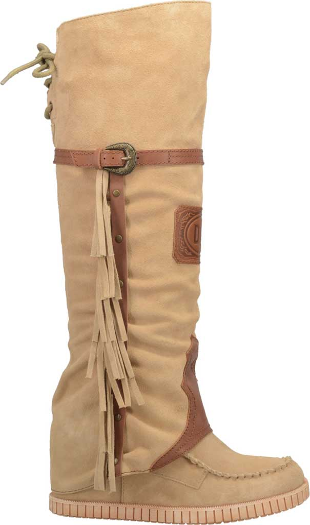 Women's Dingo Caddo DI 229 Tall Moccasin Boot, Natural Leather, large, image 2