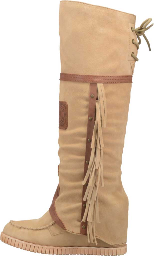 Women's Dingo Caddo DI 229 Tall Moccasin Boot, Natural Leather, large, image 3
