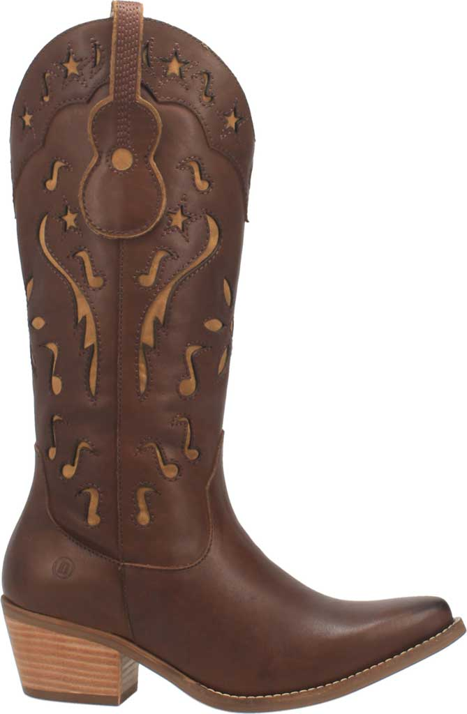 Women's Dingo Music City DI 263 Tall Western Boot, Brown Leather, large, image 2