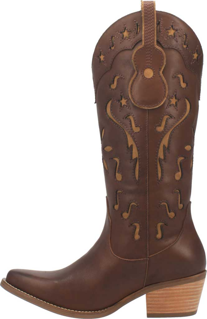 Women's Dingo Music City DI 263 Tall Western Boot, Brown Leather, large, image 3