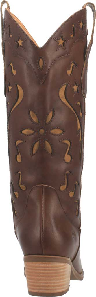 Women's Dingo Music City DI 263 Tall Western Boot, Brown Leather, large, image 4