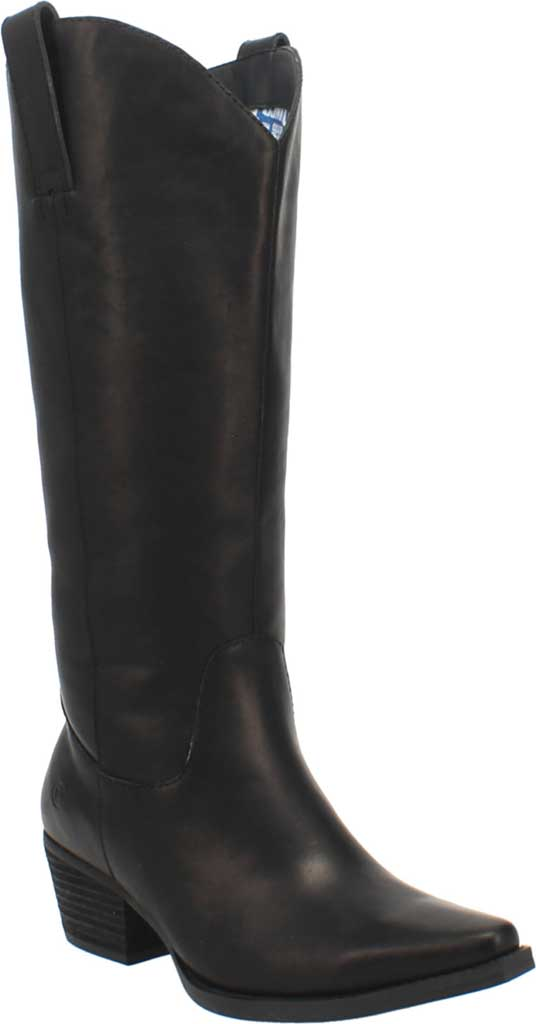 Women's Dingo Bonanza DI 257 Tall Western Boot, Black Burnished Leather, large, image 1