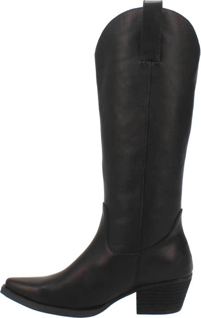 Women's Dingo Bonanza DI 257 Tall Western Boot, Black Burnished Leather, large, image 3