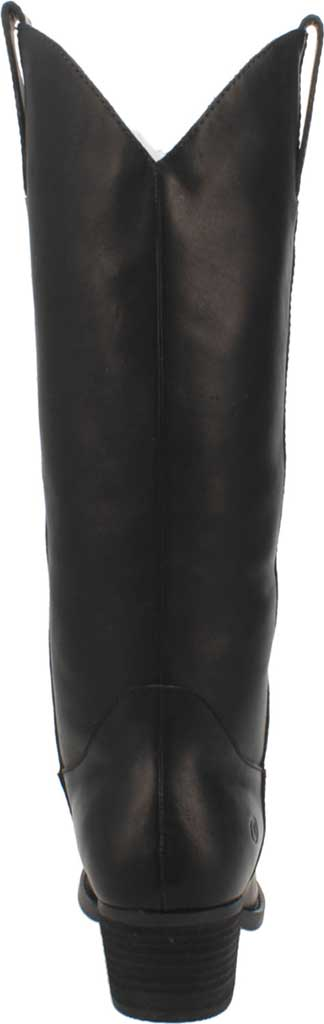 Women's Dingo Bonanza DI 257 Tall Western Boot, Black Burnished Leather, large, image 4