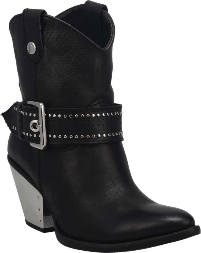 Women's Dingo Backstage DI 243 Western Bootie, Black Leather, large, image 1