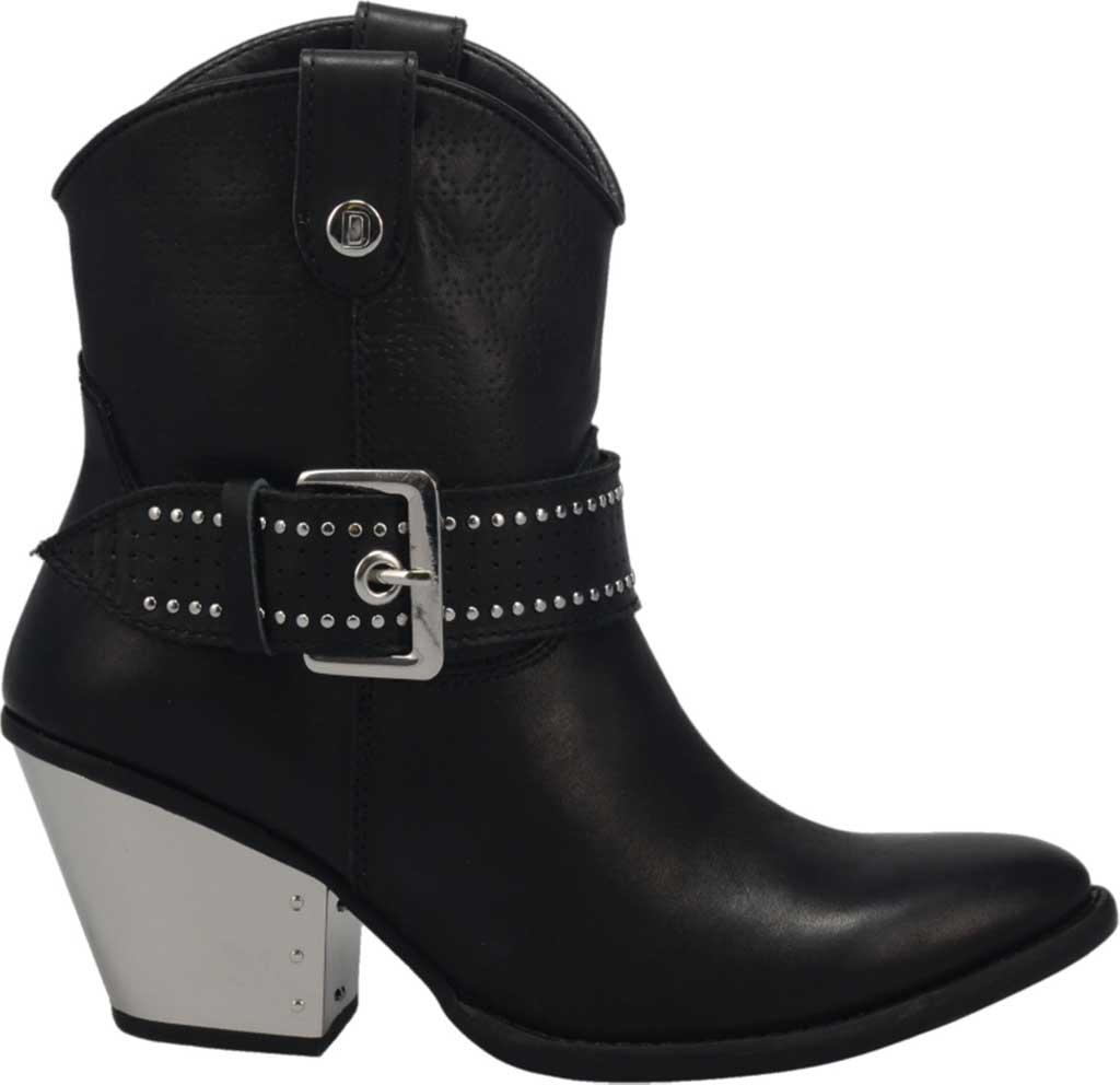 Women's Dingo Backstage DI 243 Western Bootie, Black Leather, large, image 2