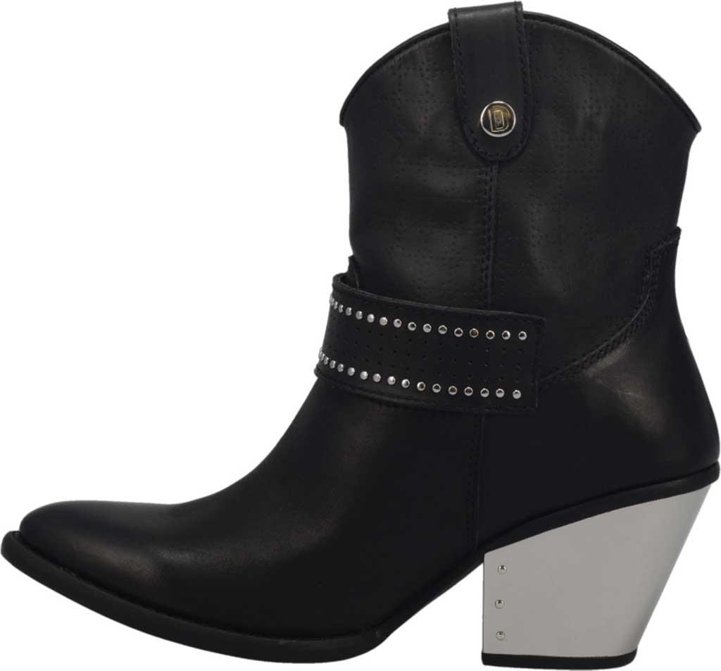Women's Dingo Backstage DI 243 Western Bootie, Black Leather, large, image 3