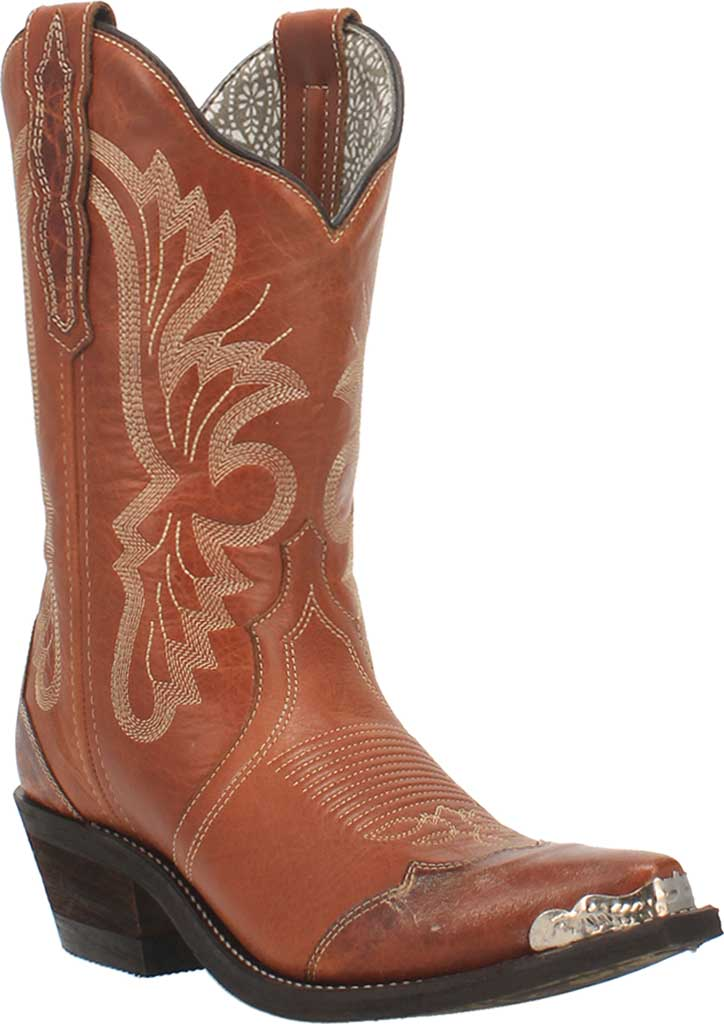 Women's Laredo Vonnie Cowgirl Boot 52351, Tan Leather, large, image 1