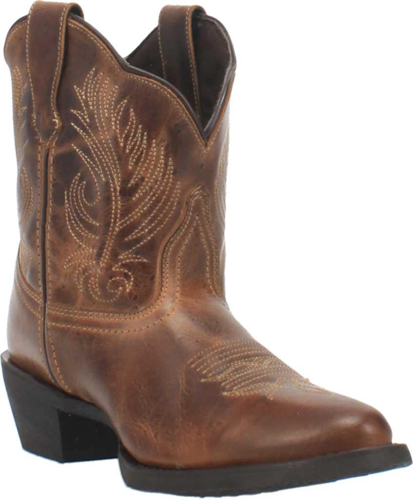 Women's Laredo Tori Cowgirl Boot 51044, Tan/Green Distressed Leather, large, image 1