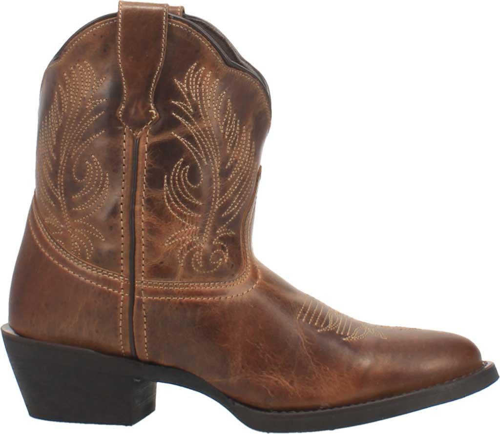 Women's Laredo Tori Cowgirl Boot 51044, Tan/Green Distressed Leather, large, image 2