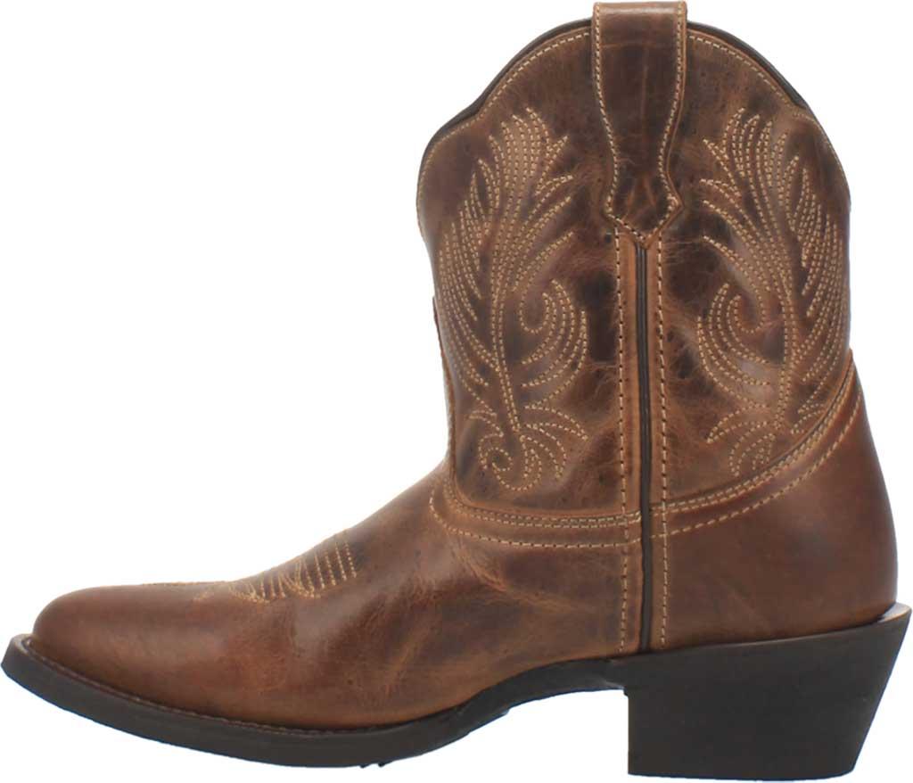 Women's Laredo Tori Cowgirl Boot 51044, Tan/Green Distressed Leather, large, image 3