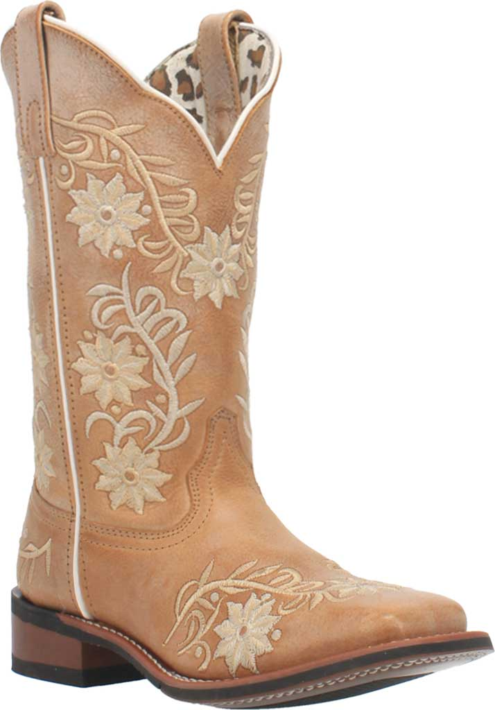 Women's Laredo Sybil Cowboy Boot 5870, Tan Leather, large, image 1