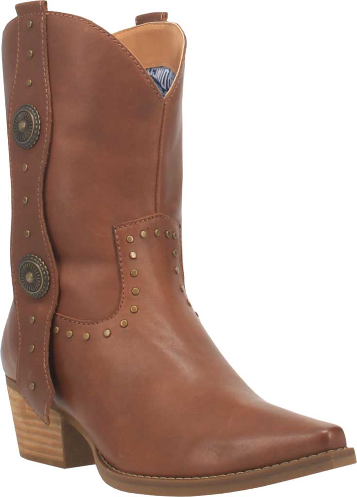 Women's Dingo True West Cowgirl Boot, Brown Leather, large, image 1