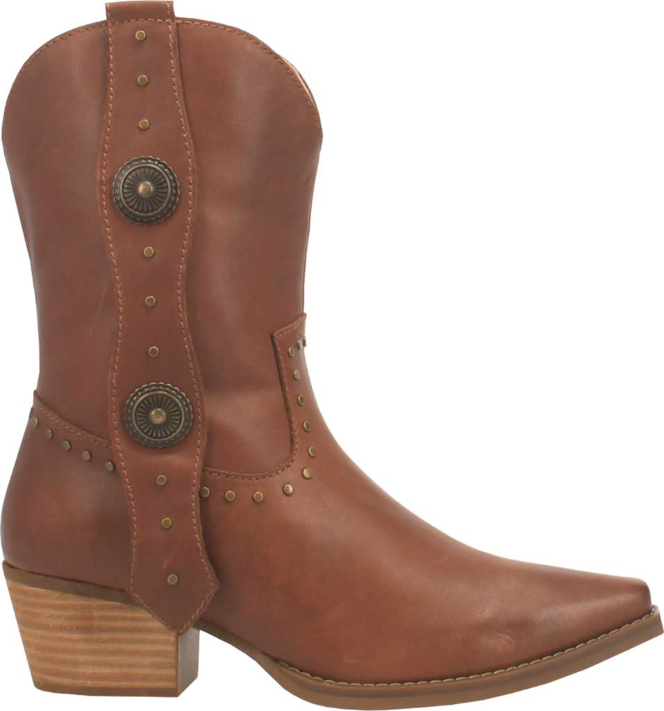 Women's Dingo True West Cowgirl Boot, Brown Leather, large, image 2
