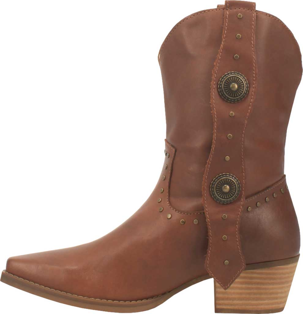 Women's Dingo True West Cowgirl Boot, Brown Leather, large, image 3