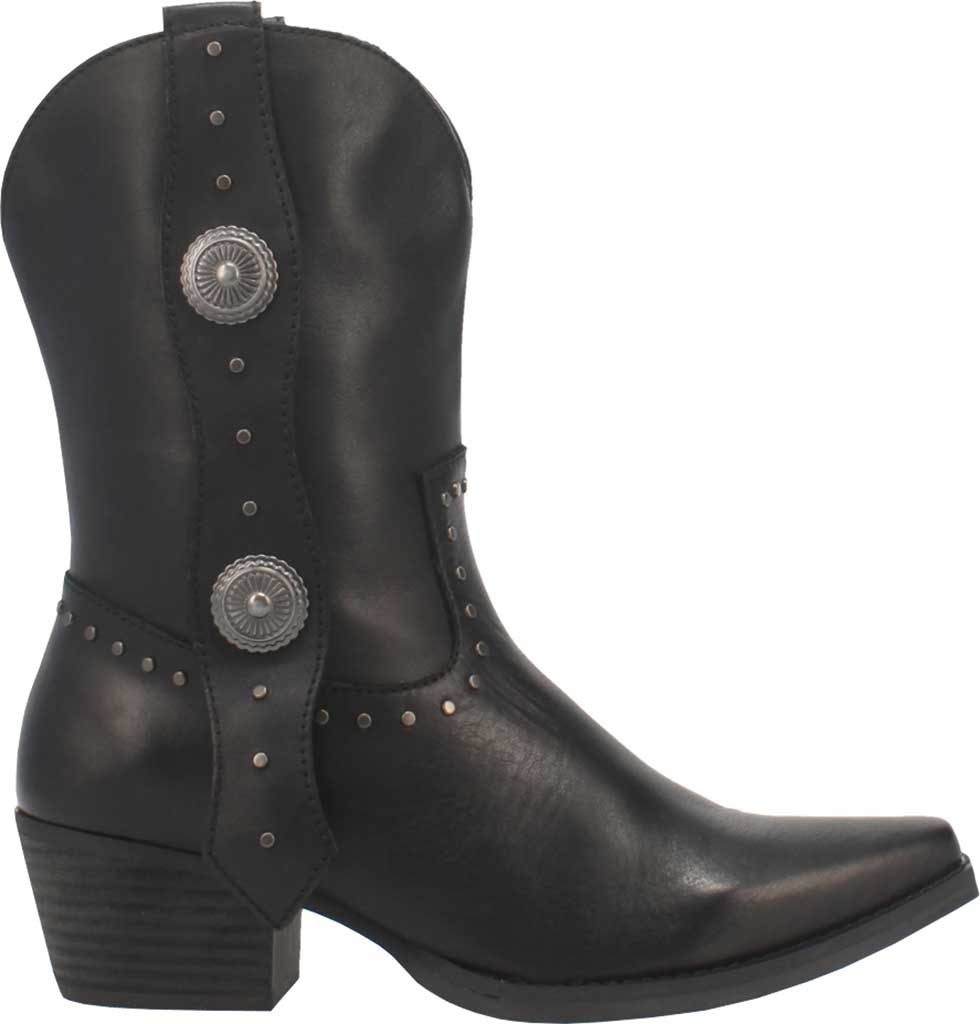 Women's Dingo True West Cowgirl Boot, Black Leather, large, image 2