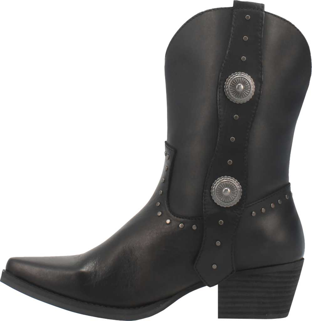 Women's Dingo True West Cowgirl Boot, Black Leather, large, image 3